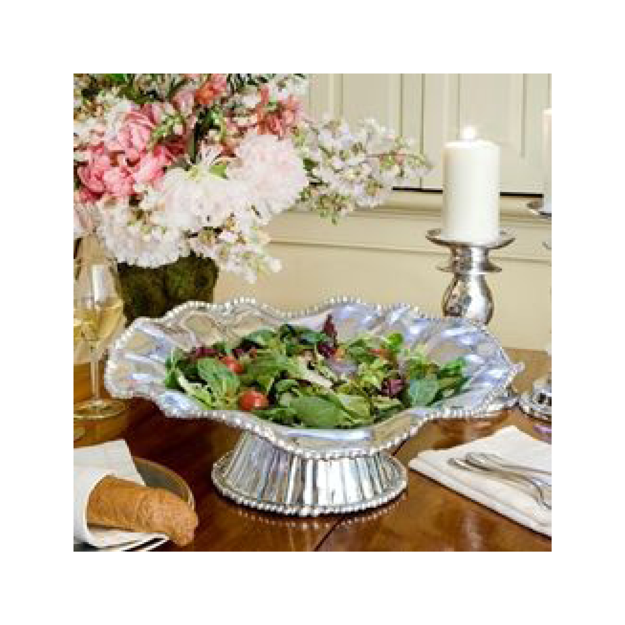 Beatriz Ball Collection Pedestal Pearl Chere Bowl $169.95   Wants 1 Has 1 Needs 0