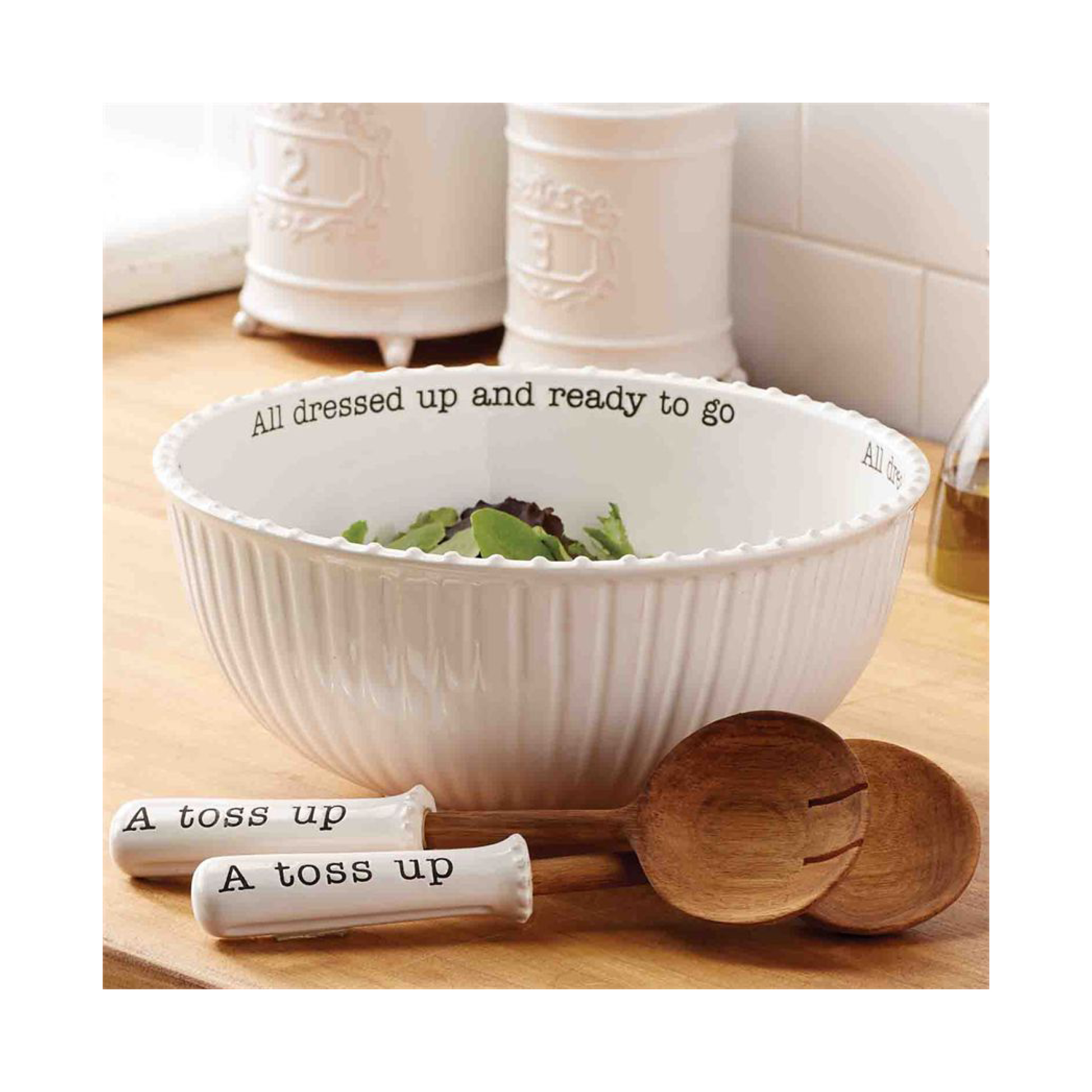 Mud Pie Circa Salad Bowl and Servers $59.95   Wants 1 Has 1 Needs 0