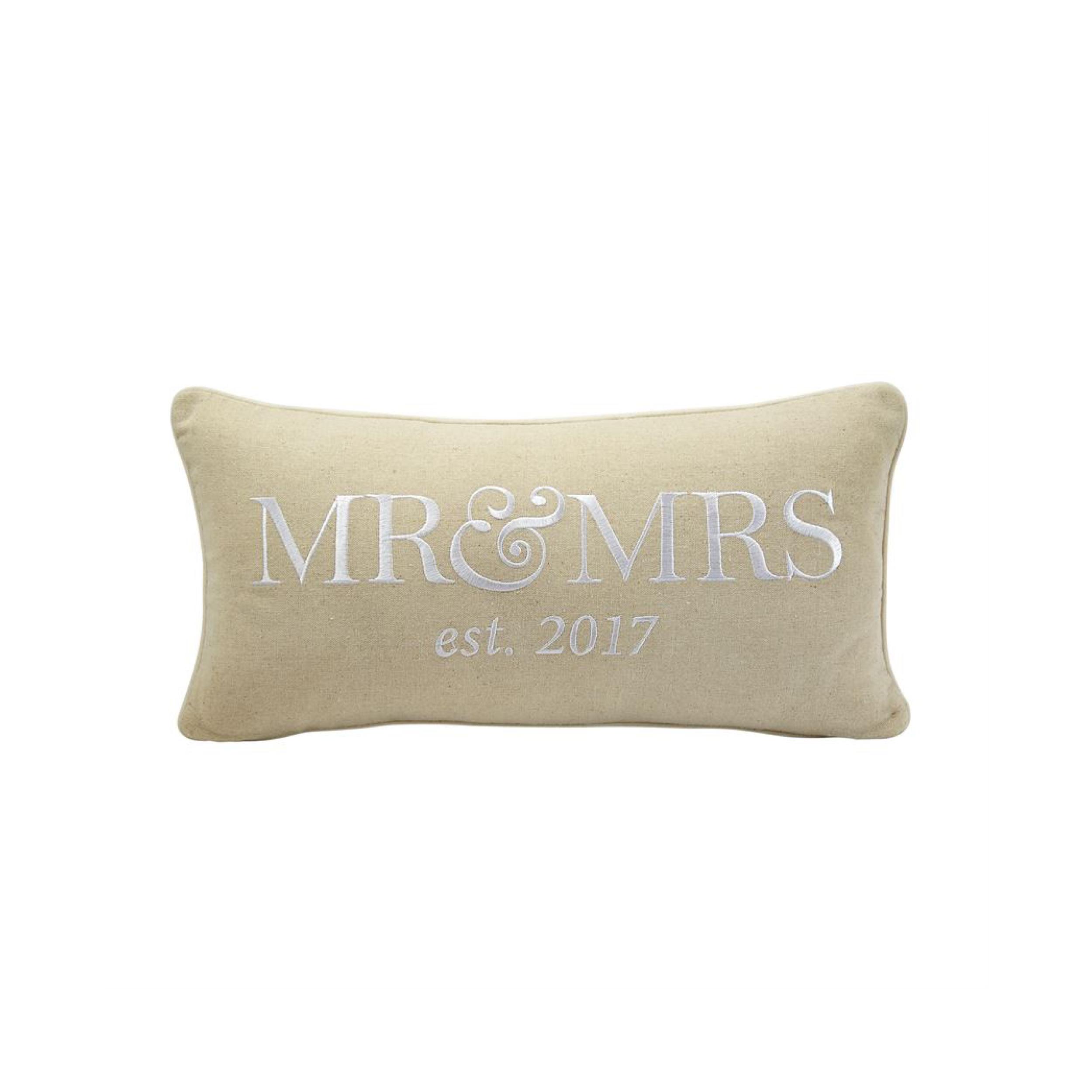 Mr & Mrs 2017 Pillow $25.95   Wants 1 Has 1 Needs 0
