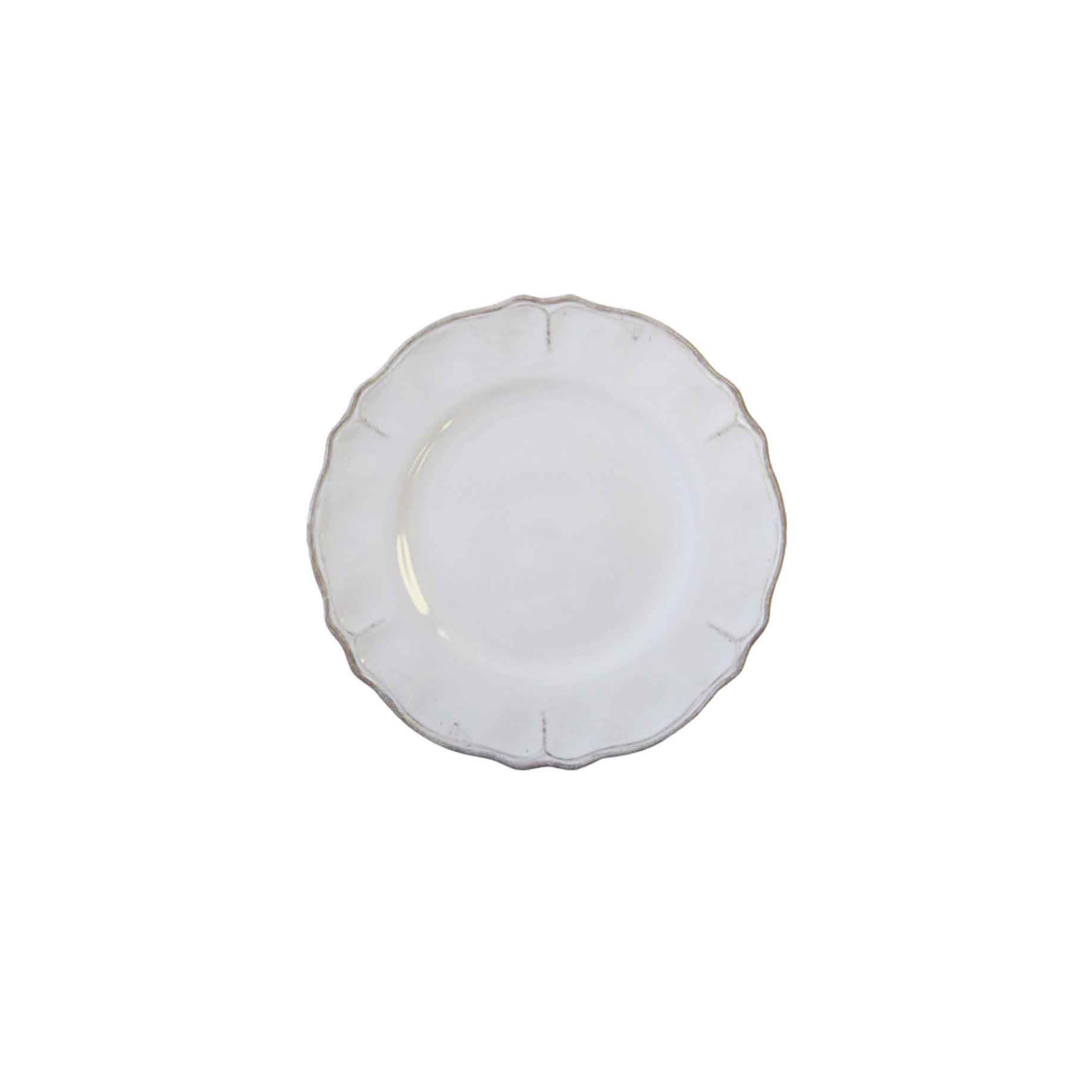 Rustica White Salad Plate $11.75   Wants 8 Has 4 Needs 4