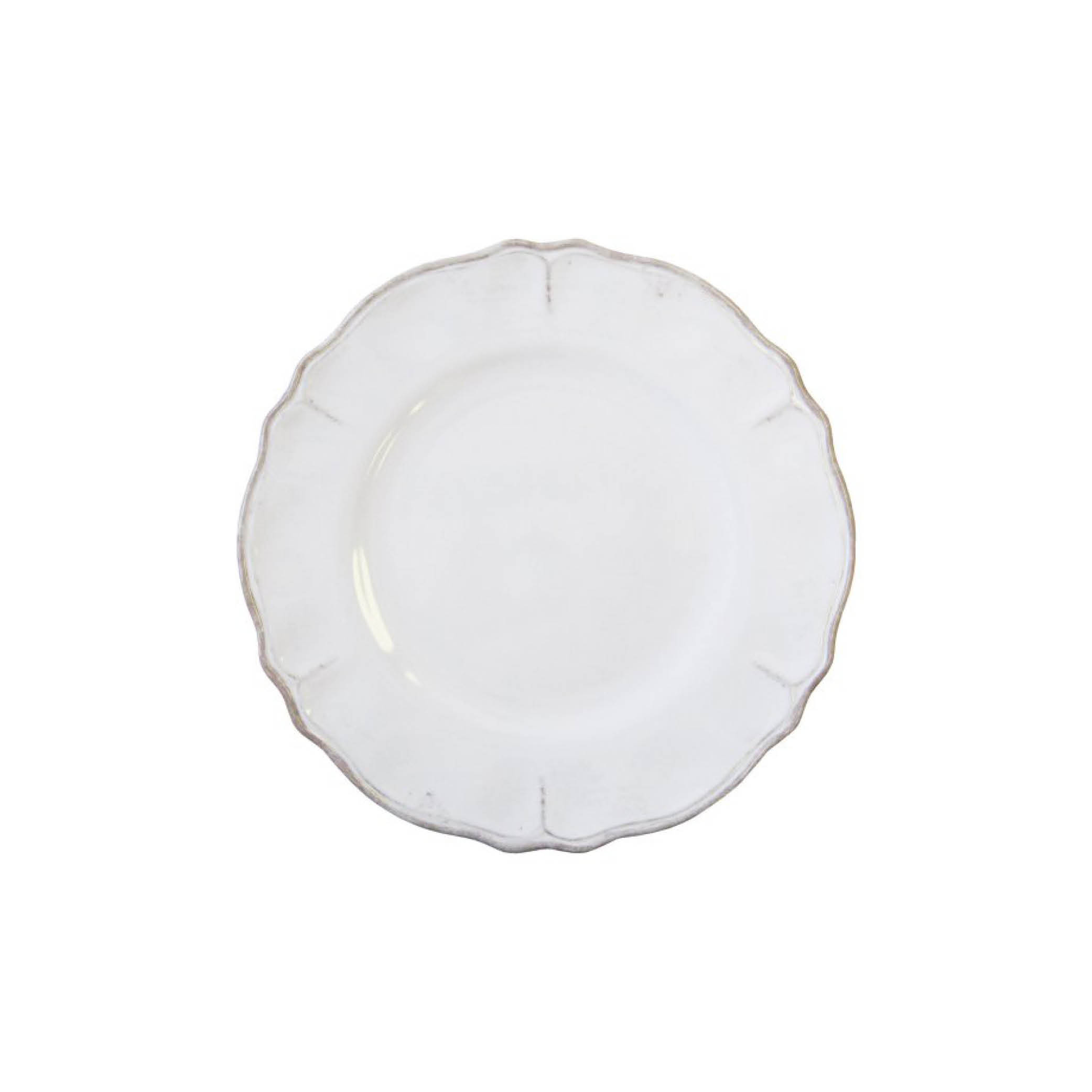 Rustica White Dinner Plate $17.95   Wants 8 Has 4 Needs 4