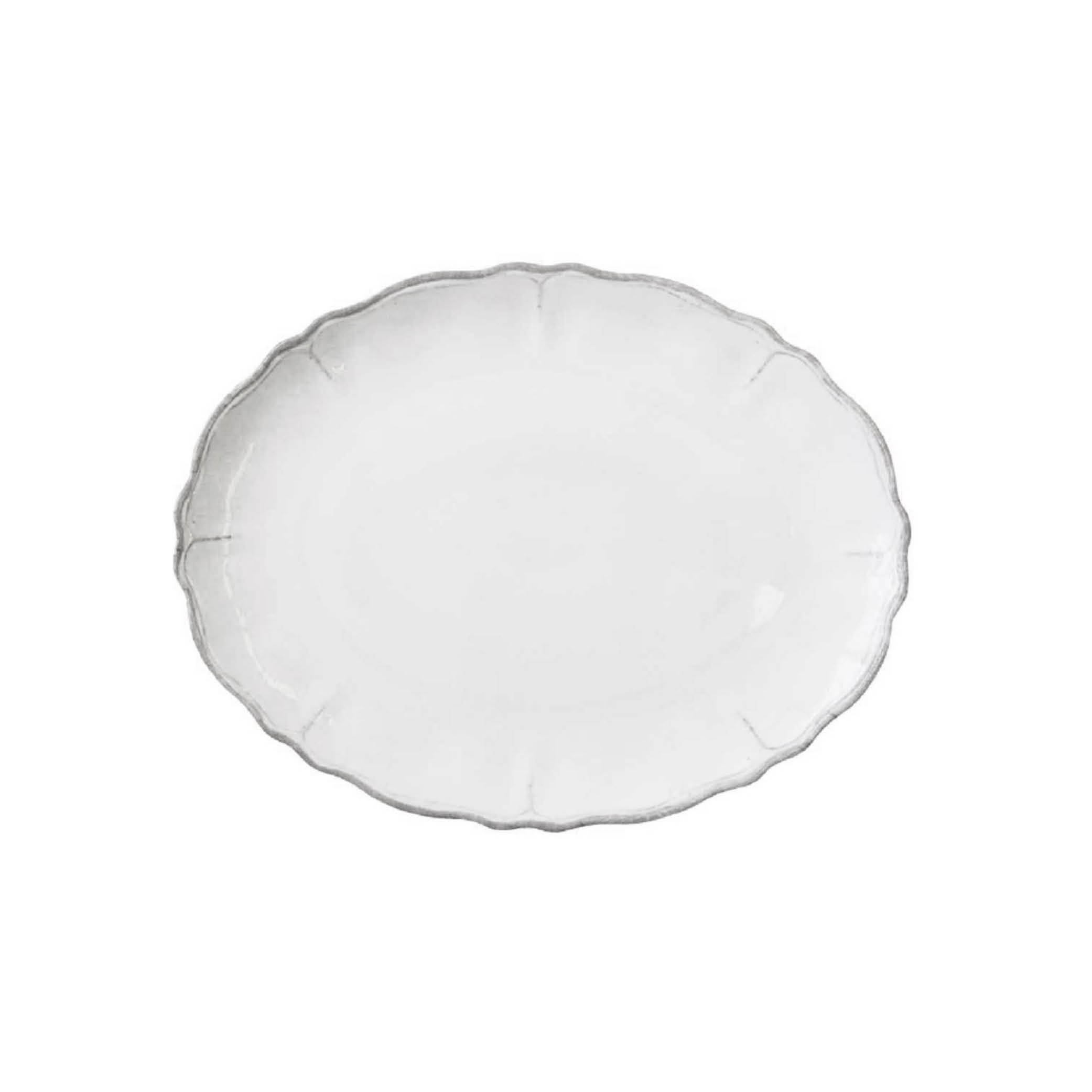 Rustica White Platter $29.50   Wants 1 Has 0 Needs 1