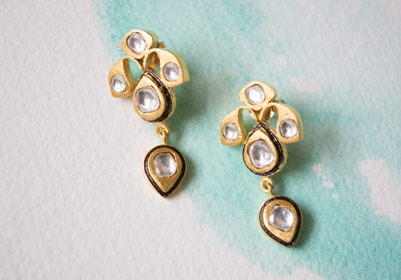 Gold Jewels of Jaipur Earrings that dazzle.