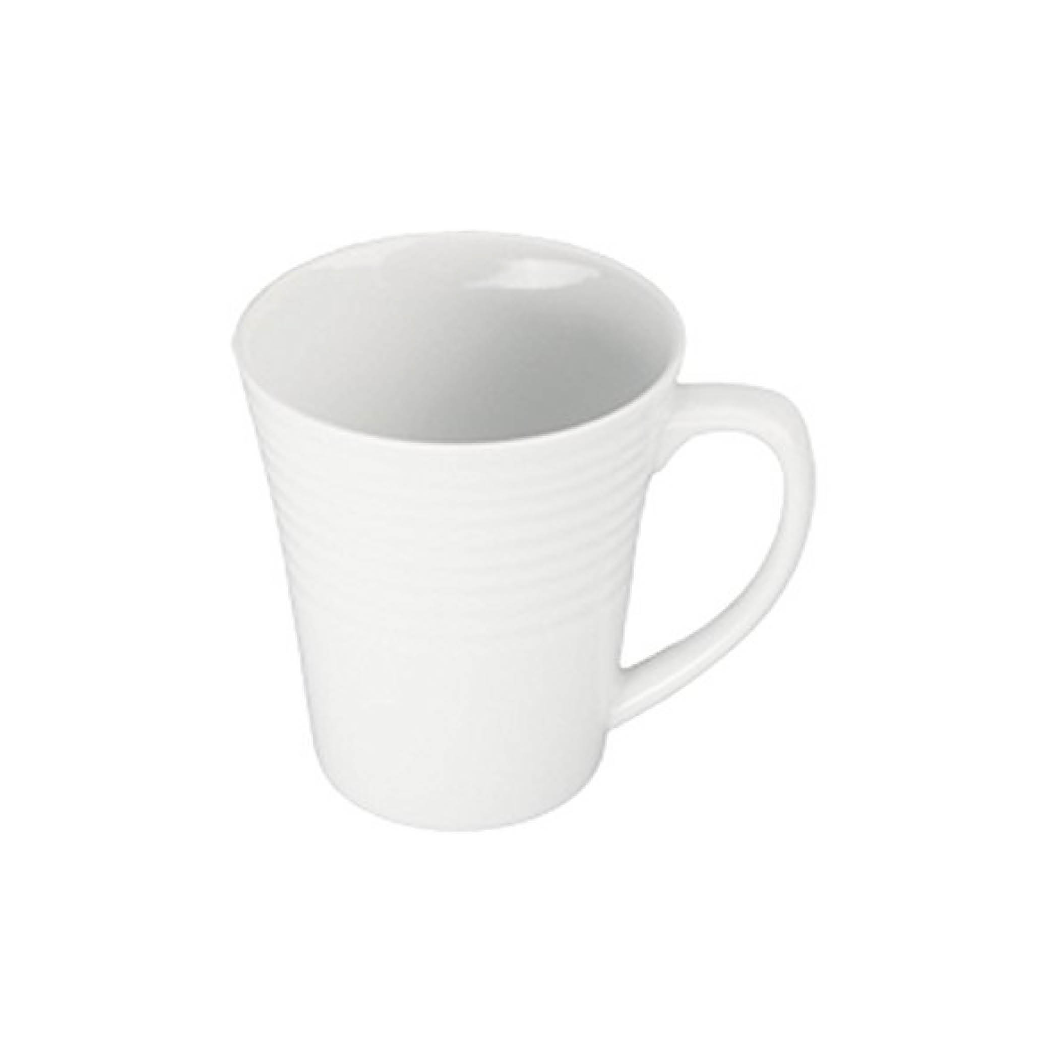 Ribbed White Coffee Mug $6.95   Wants 8 Has 2 Needs 6