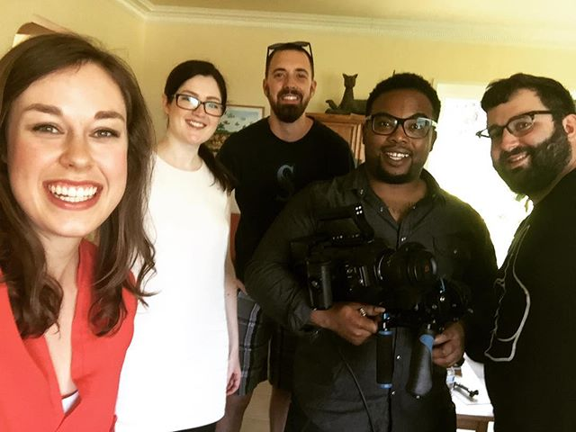 """Aaaaand CUT!"" ""That's a WRAP!"" How's that for film lingo? We're feeling pretty with-it after our film sesh today for our upcoming crowdfunding campaign! (Coming in APRIL!!! 😱) A huge thank you to our amazing film crew!!! ❤️🎥"