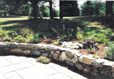 Custom Patio and Stone Wall - Contest Winner!