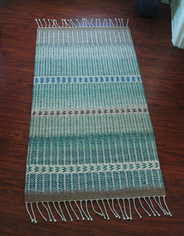 Twill Weave Rug with Zigzag Pattern