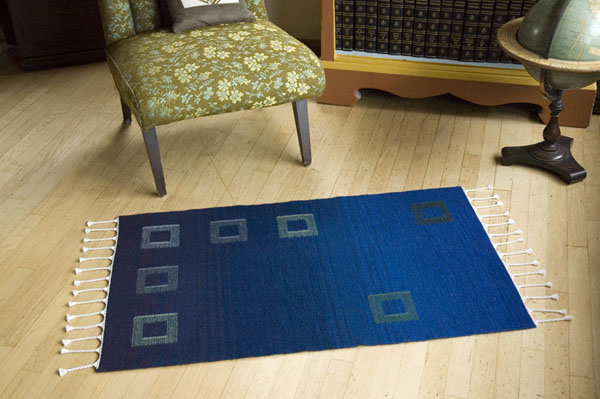 Plain Weave Rug with Tapestry Element
