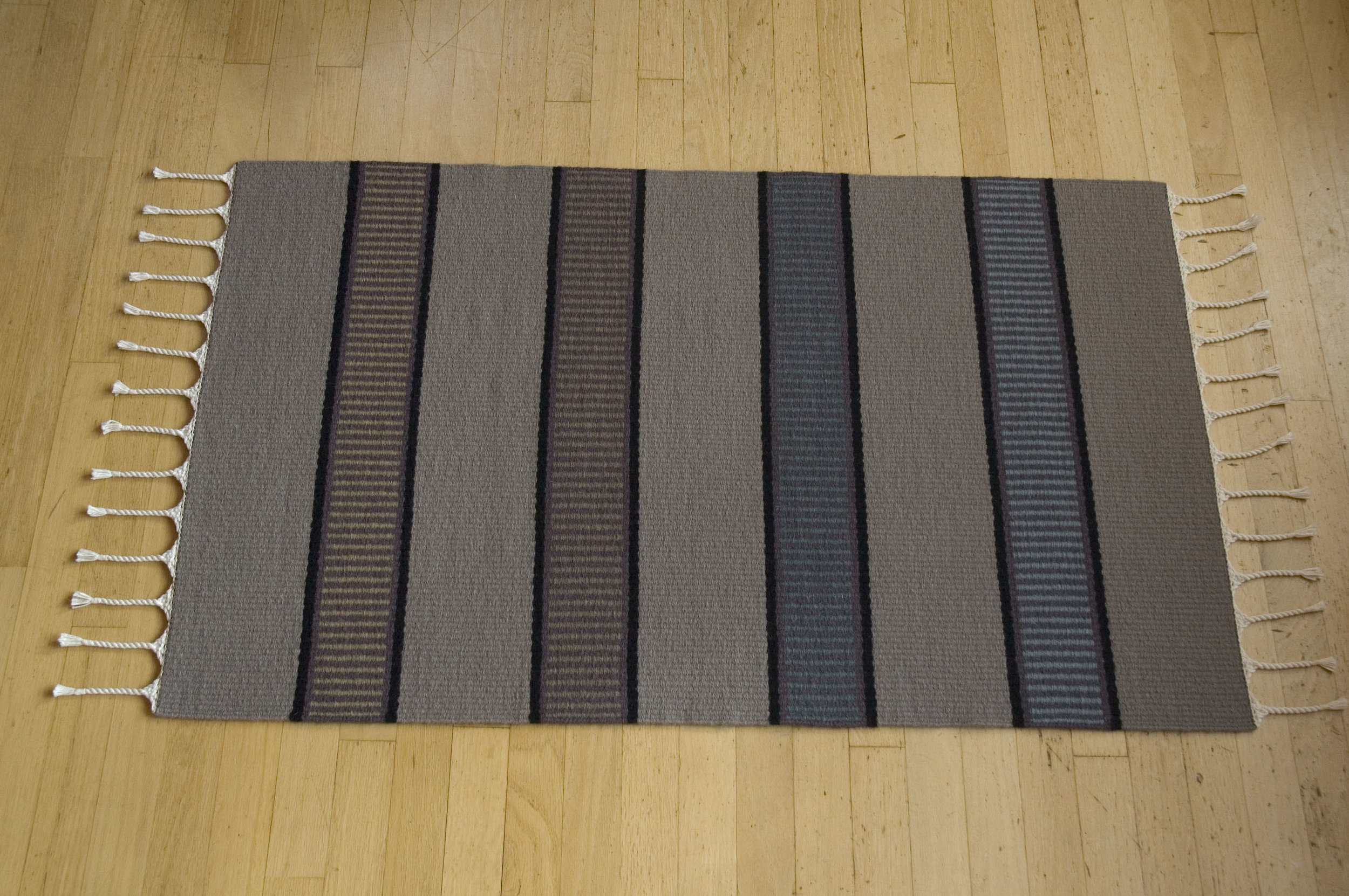 Plain Weave Rug with Stripes