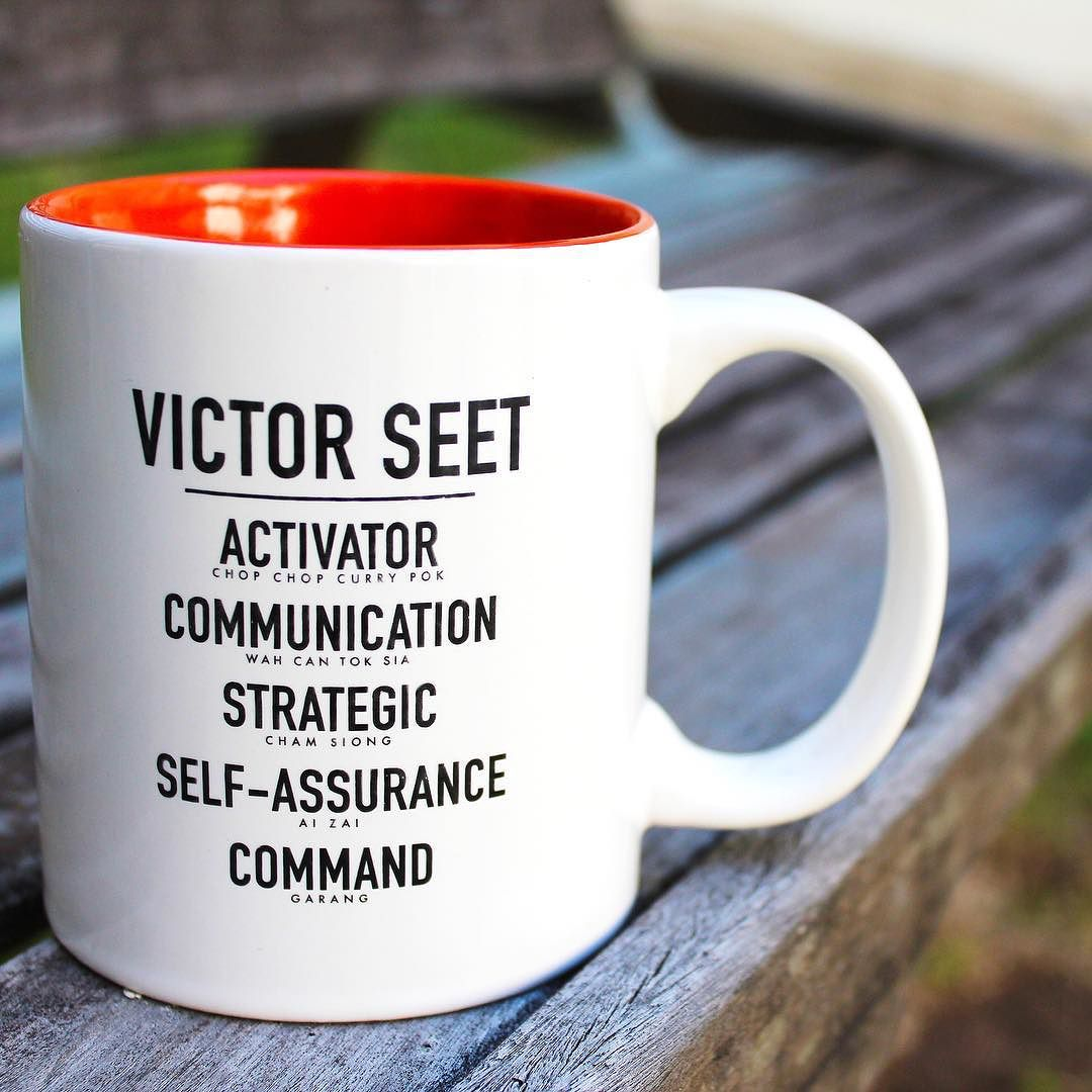 Singapore StrengthsFinder Singlish Mug Activator Communication Strategic self assurance command Victor Seet