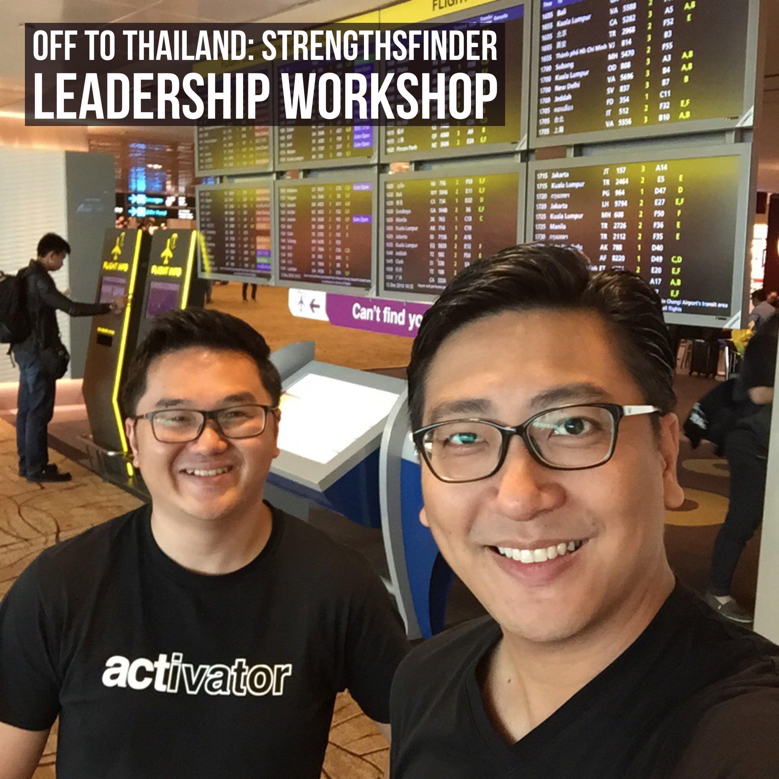 Singapore StrengthsFinder Leadership Workshop Chiangmai Thailand Gallup Coach Victor Seet