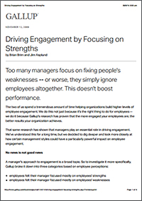 Driving Engagement by Focusing on Strengths (Gallup, Inc.)