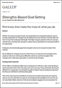 Strengths-Based Goal Setting (Gallup, Inc.)