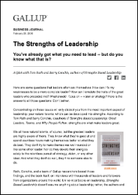 The Strengths of Leadership (Gallup, Inc.)
