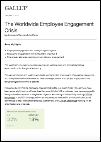 The Worldwide Employee Engagement Crisis (Gallup, Inc.)