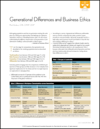 Generational Differences and Business Ethics (Mark Harbour)