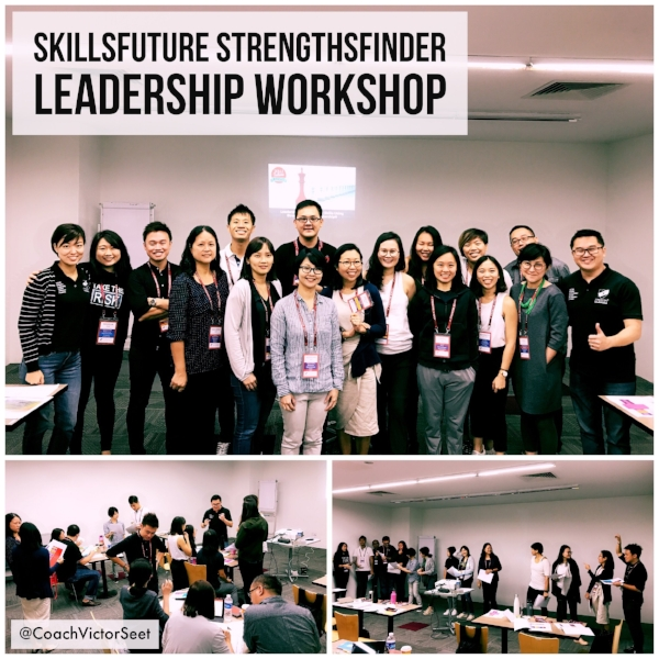 Singapore StrengthsFinder SkillsFuture Leadership Workshop using Cliftonstrengths by Gallup Coach Victor Seet