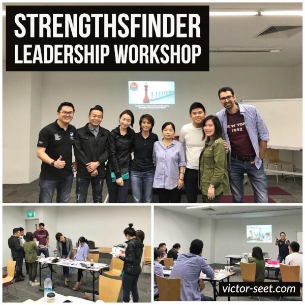 StrengthsFinder Leadership Workshop Singapore Skillsfuture Victor Seet Oct17