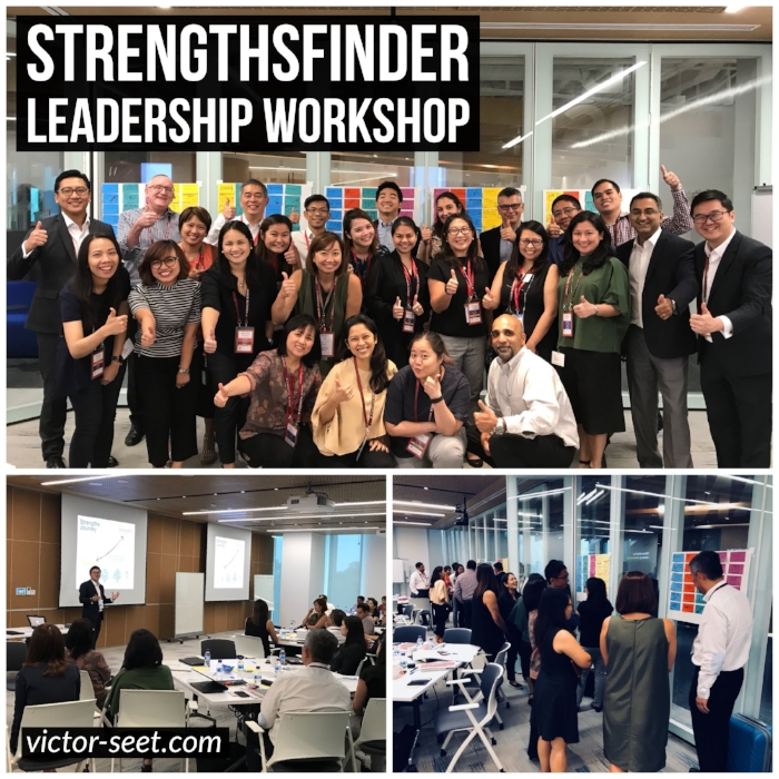 StrengthsFinder Singapore Leadership Workshop JnJ Cliftonstrengths Coach Victor Seet 012018