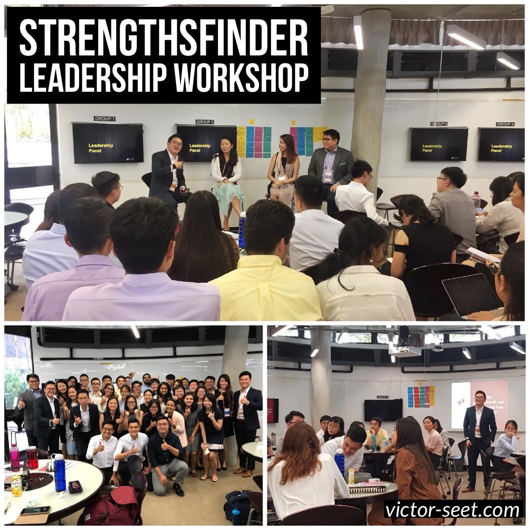 Gallup StrengthsFinder Singapore Leadership Workshop for NTU Peak program Coach Victor Seet