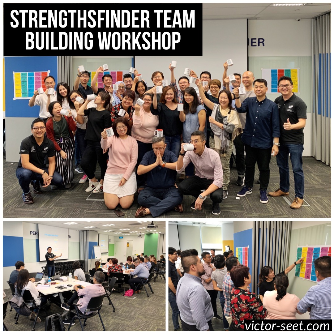 Gallup StrengthsFinder Singapore Team Building Workshop Workforce Singapore Career Connect Team Victor Seet