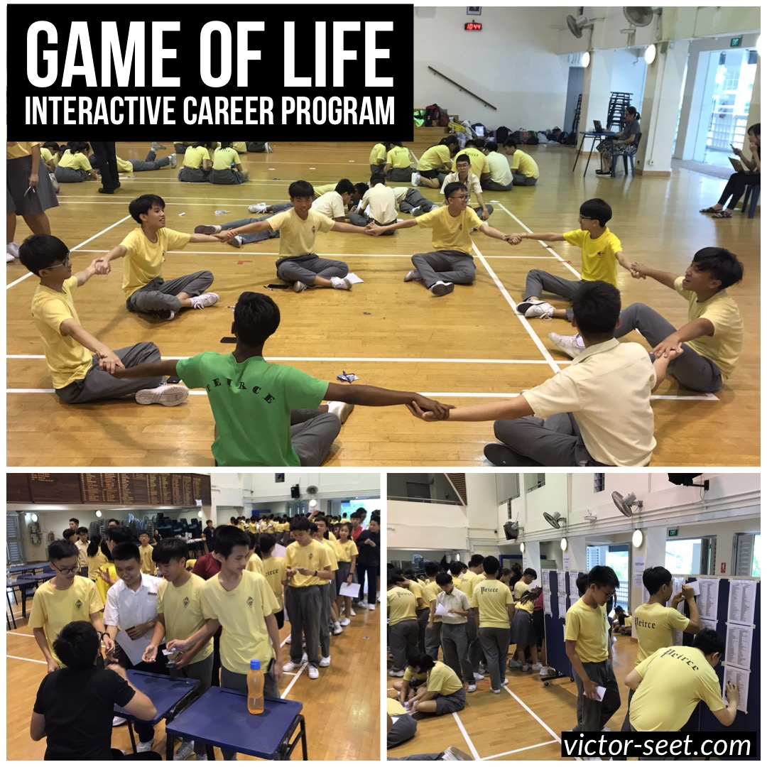 Game of life interactive fun education career leadership program ecg victor seet