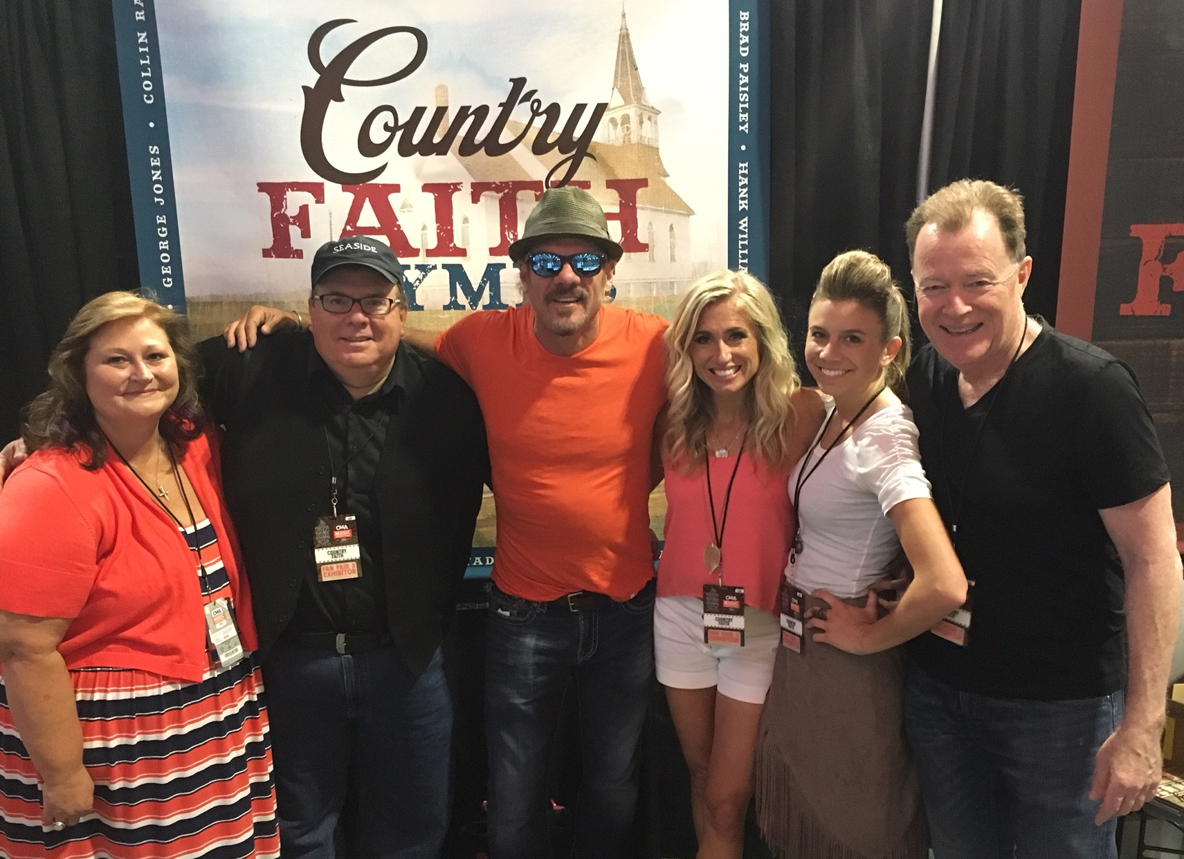 Country Faith partners at CMA Fest hanging out with Phil Vassar and friends. Left to Right: Deborah Evans Price, Bob DeMoss, Phil Vassar, Michelle Smith, Molly Cronin, Danny McGuffey.