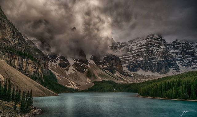 Storm weather #photographer #canada #sky #beautiful #photoftheday #jonathantucker #landscape #photography #Banff #alberta #lalke #mountains #canadianrockies