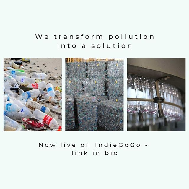 What a satisfying sight! Global plastic consumption is meant to triple by 2050. Our world is not slowing down on plastic, so why not make it sustainable? Swapping fossil-fuel based plastic for fair trade, recycled plastic will reduce pollution and help people while doing so. If you want to see our bottle to bottle system expand - back our IndieGoGo campaign today.