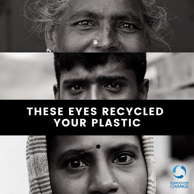 Eyes tell the story of the soul. Stories of waste-pickers are filled with trials and difficulties. Waking up at 3am to collect trash, getting infections or cuts from sharp bits of waste and not knowing if they can feed their families each night. But never give up trying for a better future for themselves and our planet. 🌱 #plasticsforchange