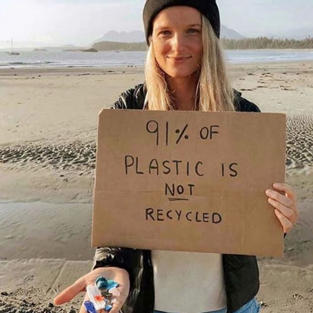 91% seems like a scary statistic however it is 91% of opportunity.  Recycling plastic lessens pollution and also provides sustainable jobs for the urban poor.  We employ people living in poverty to collect and recycle plastic. This allows them to feed their families while solving our global problem! Photo credit @pinchofom #plasticsforchange