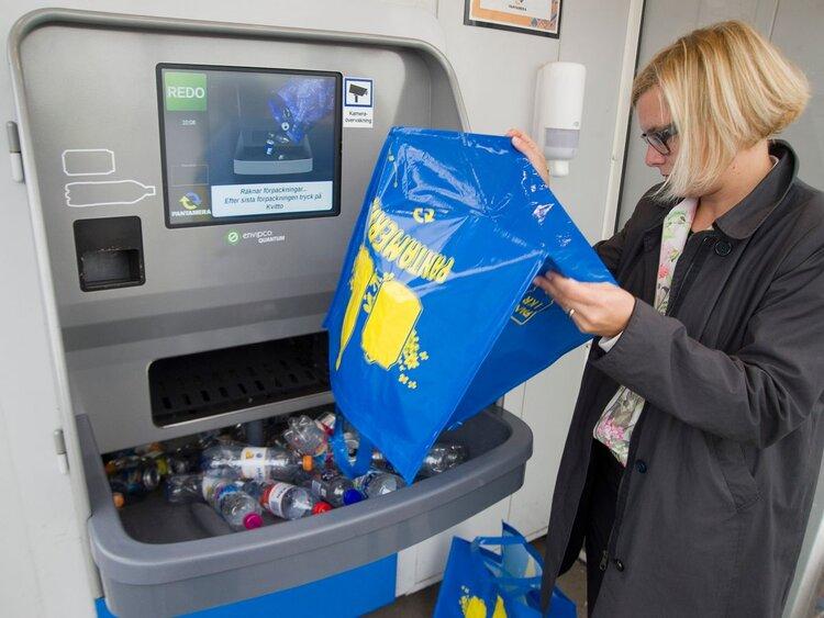دستگاه هاي فروش خودكار معكوس در سوئد (تصوير: ثبت روزانه)