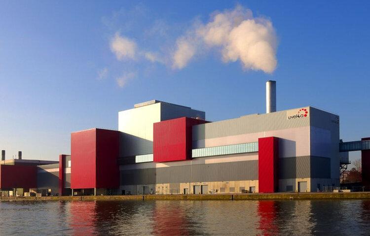 یک نیروگاه اتلاف انرژی در بلژیک.