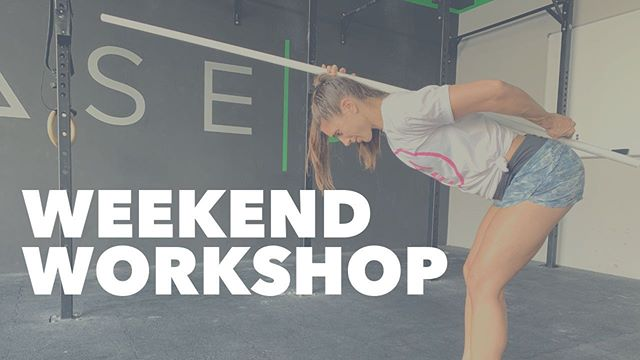 """WEEKEND WORKSHOP This Friday, open to all BASE 3 members, coach @ejestall will run our first Weekend Workshop. This first edition will focus completely on """"The Hinge"""", where we'll address mechanics and position related to improving the hinge (bending forward correctly). Understanding how to hinge correctly will have a massive impact in your ability to pull weights from the floor, run, stand even sit. So don't miss this one, 10am at BASE 3. Class schedule is modified to accommodate this awesome experience, make sure you check wodify. • • •"""