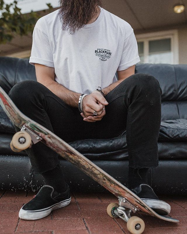 Go check out @bmds.co, I hear you can bye these t-shirts from the website 👕 another shot of @matthewjamescrosby chilling on a random sofa in the city streets of Perth.