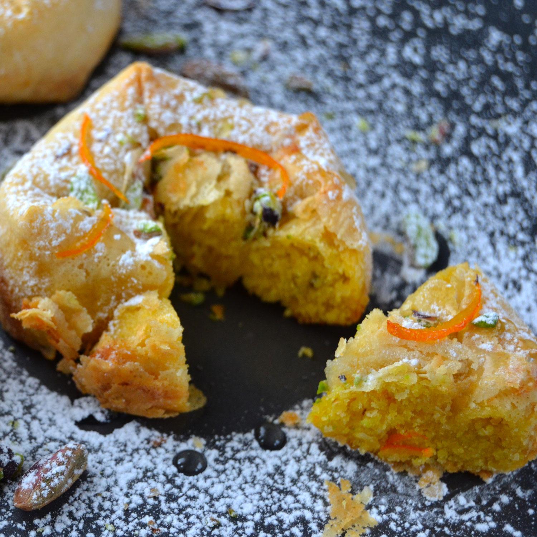 M'hanncha: torta marocchina alle mandorle e arance