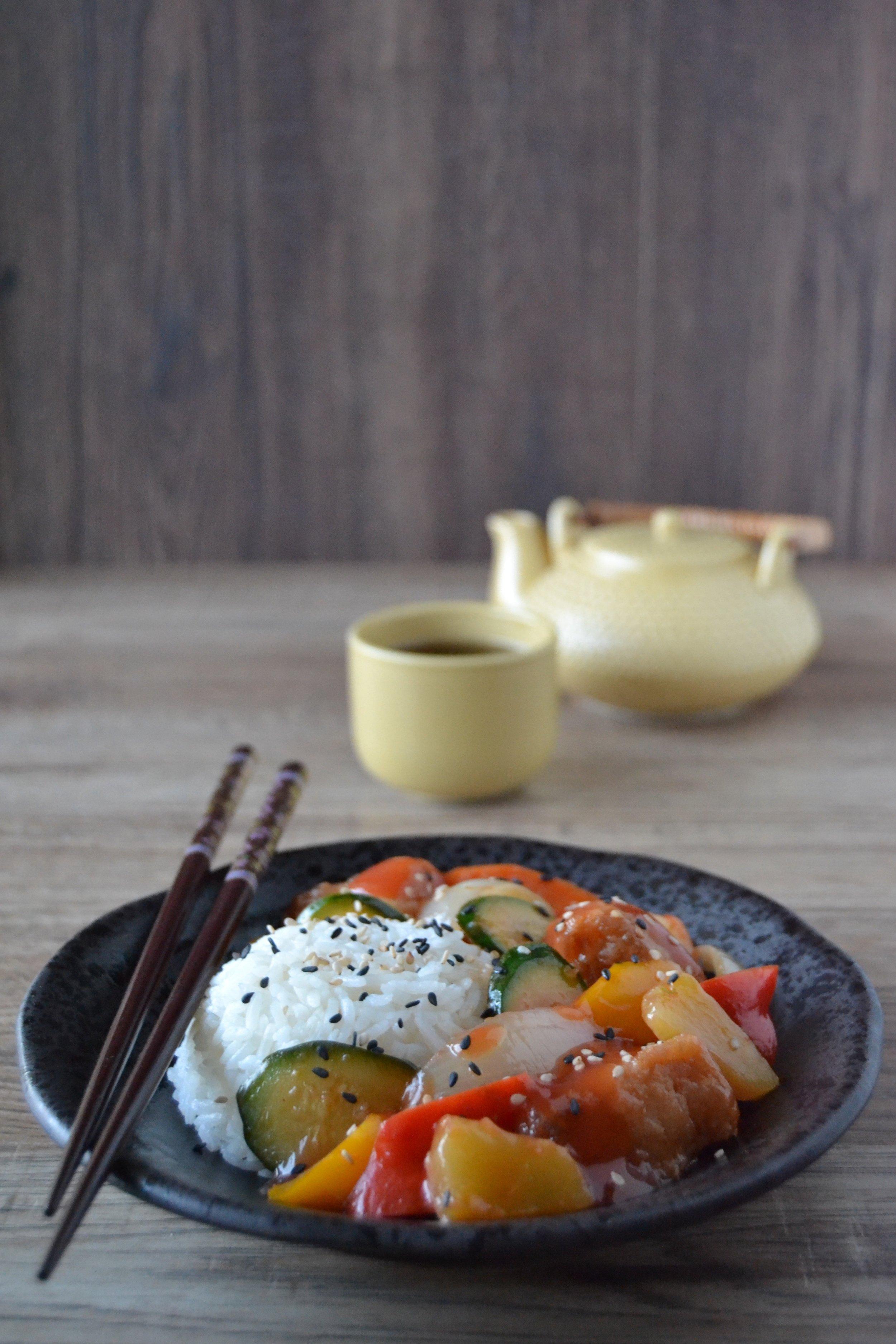 Pesce e verdure in salsa agrodolce