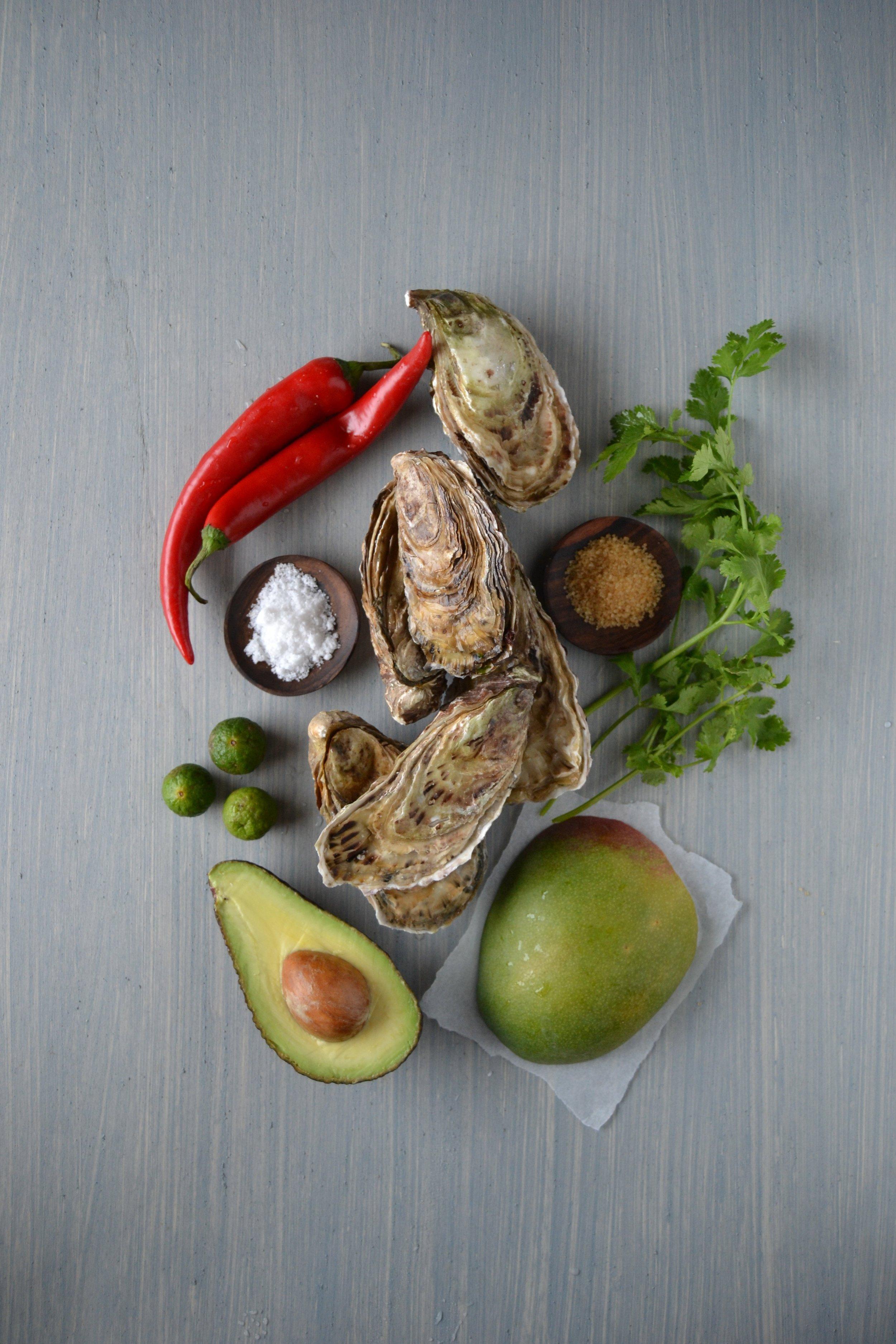 Ostriche con salsa piccante al mango