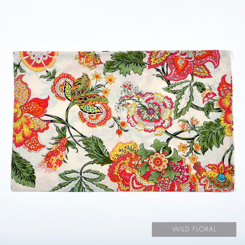 Wild Floral Pillowcase