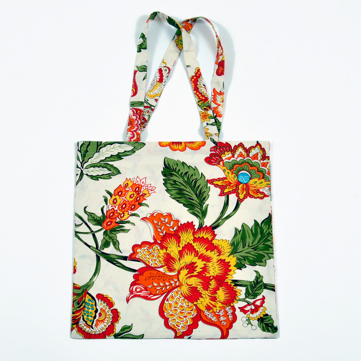 Reversible tote bag in Wild Floral