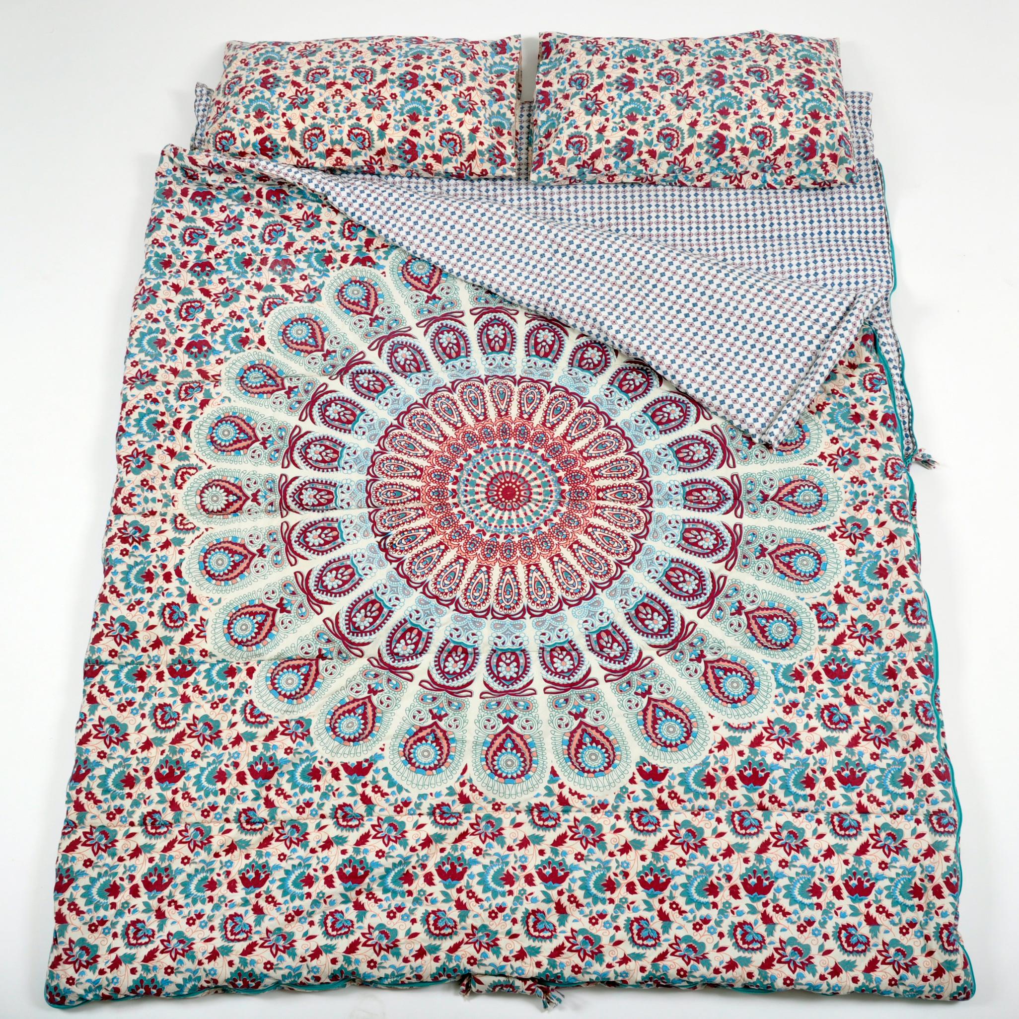 Double sleeping bag in Peacock