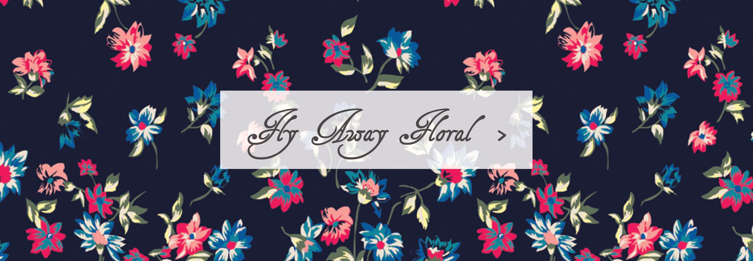 Sleeping Bag Beauties Fly Away Floral Pattern Print
