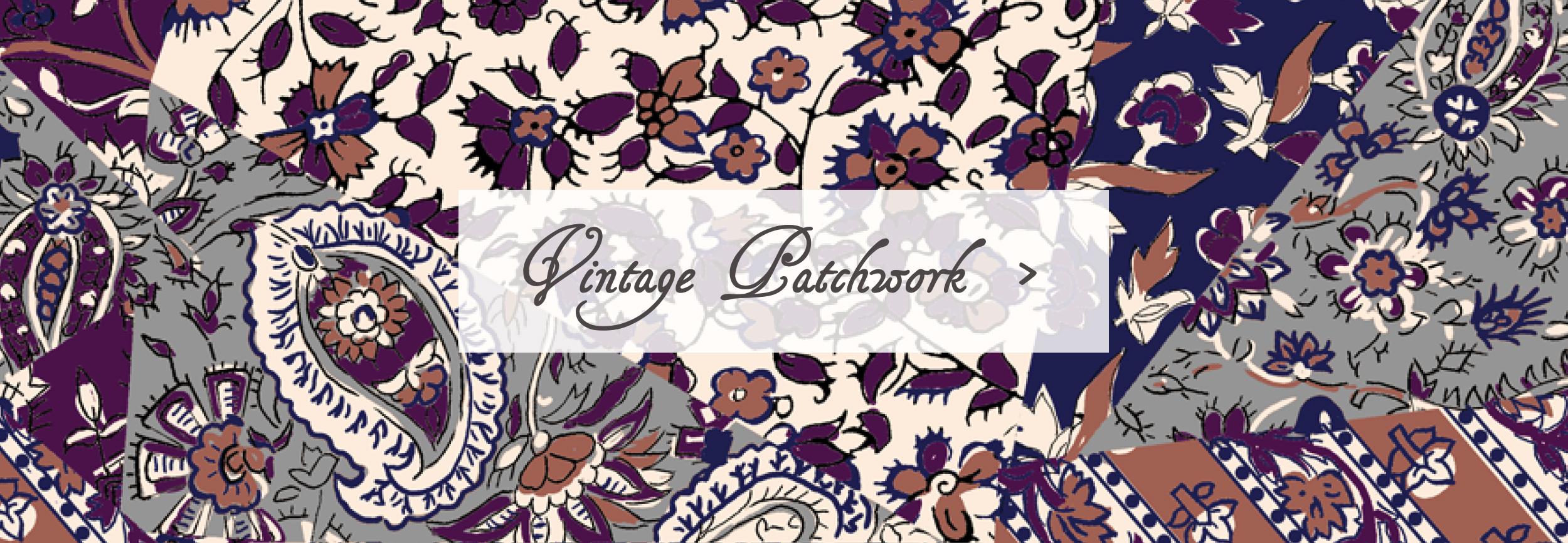 Vintage Patchwork Sleeping Bag Beauties Pattern Print