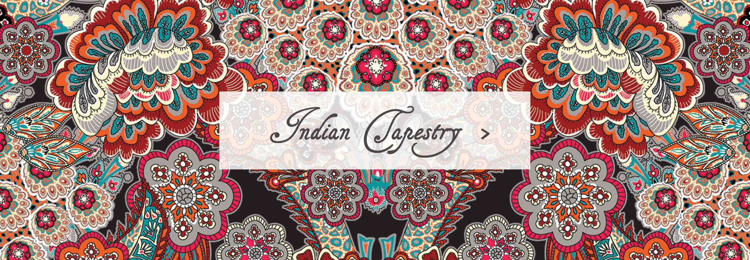 Indian Tapestry Sleeping Bag Beauties Pattern Print