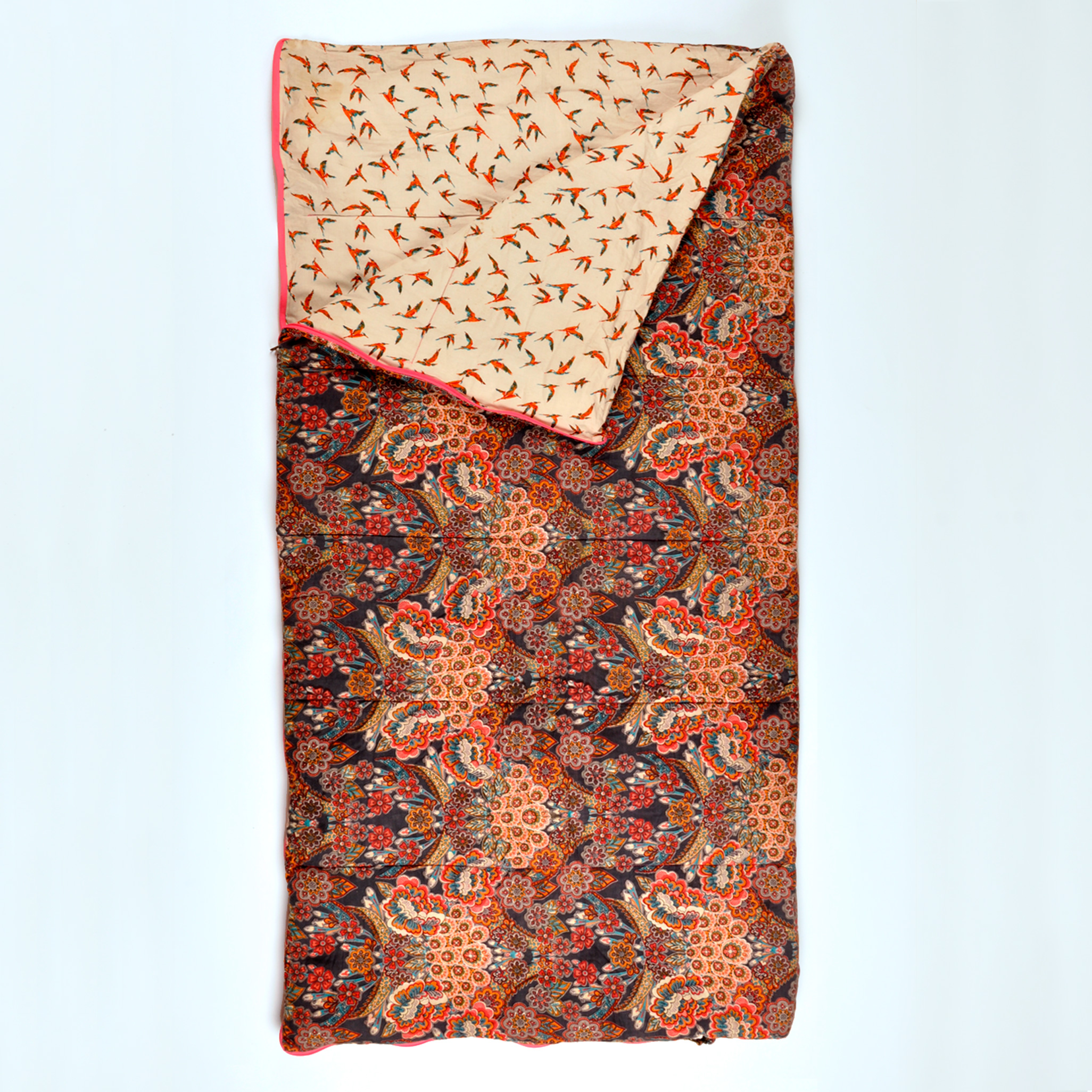 Sleeping Beauties sleeping bag in Indian Tapestry. Available in single and longer length sizes.
