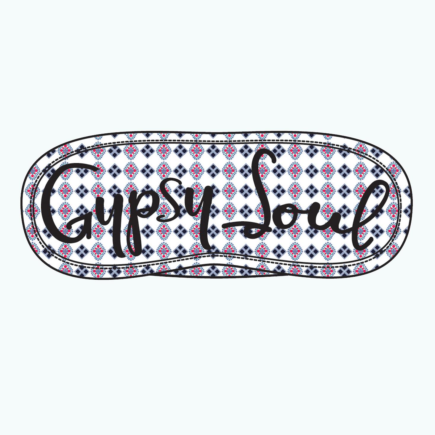 Embroidered Eye Mask