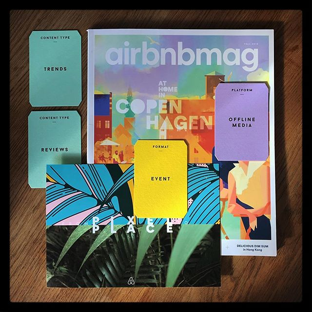Digital & physical connected #contentstrategy @airbnbdesignteam @itsnicethat @bompasandparr #airbnbpixeltoplace