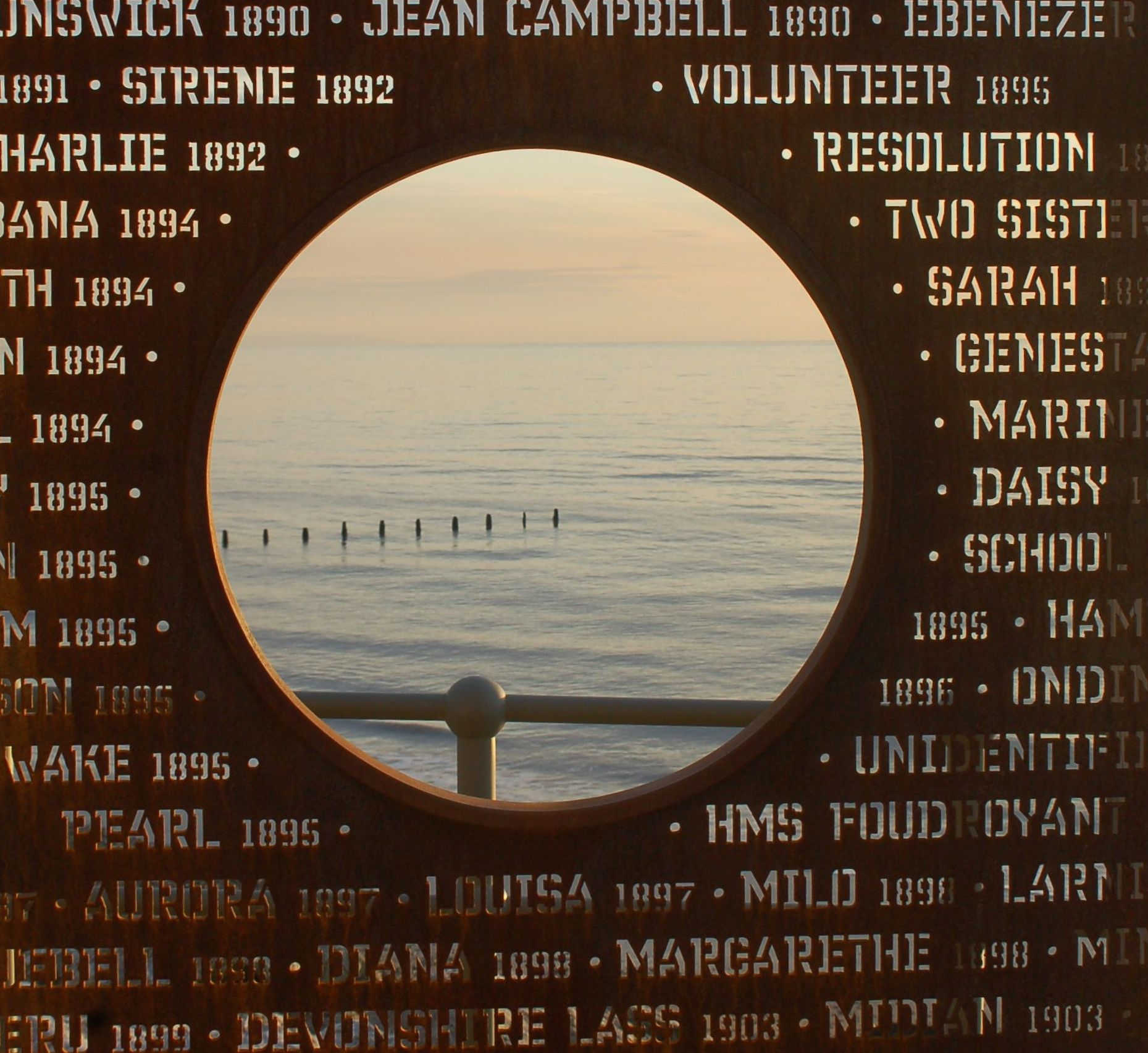 SHIPWRECK MEMORIAL   A memorial to all known ships lost along the Fylde coast.