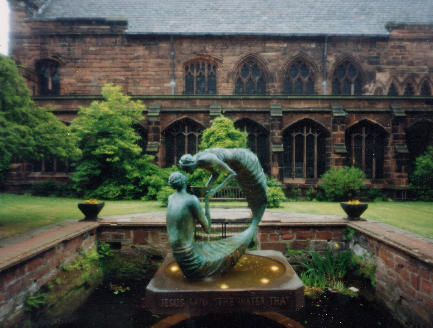 WATER OF LIFE   A moving setting in the Cloister garden