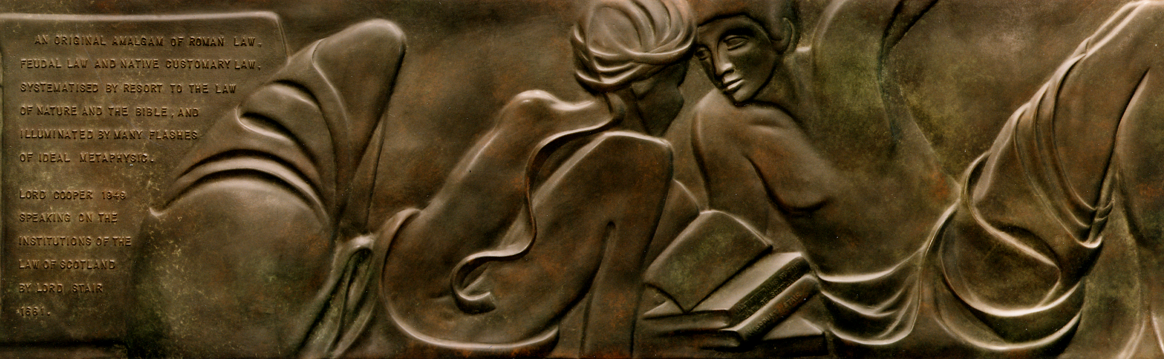 TRADES & PROFESSIONS   Series of nine low relief bronze panels